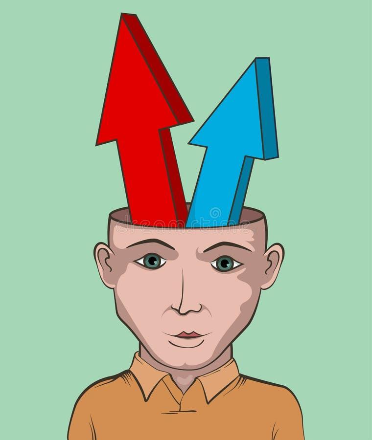 Projeto gráfico do conceito creativo bem escolhido ilustração stock