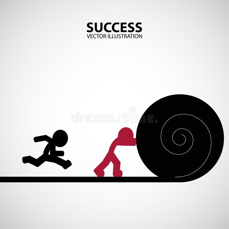 Projeto gráfico do sucesso ilustração stock