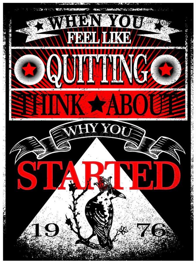 Projeto gráfico do vetor da camisa do homem T do slogan do vintage ilustração stock