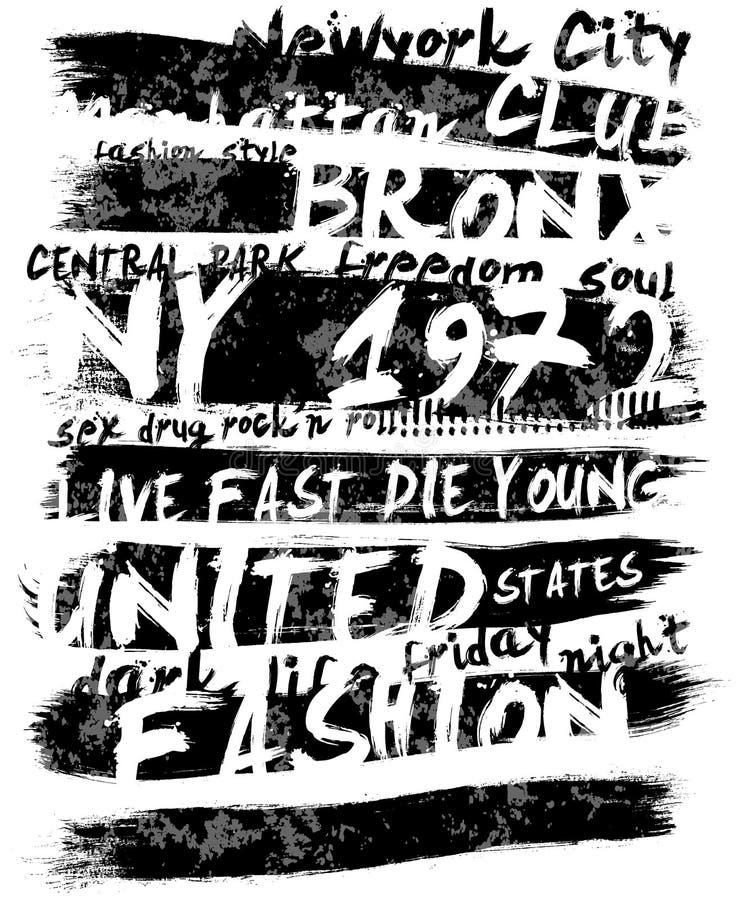 Projeto gráfico do vetor da camisa do homem T do slogan do vintage ilustração royalty free