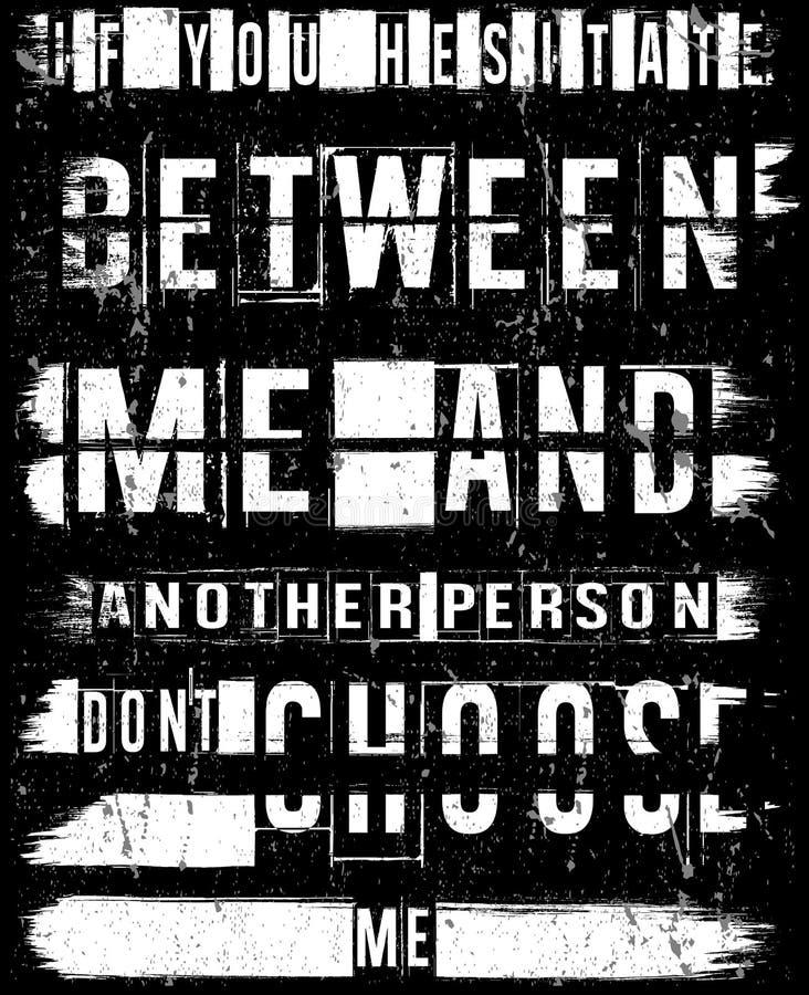 Projeto gráfico do vetor da camisa do homem T do slogan do vintage ilustração do vetor
