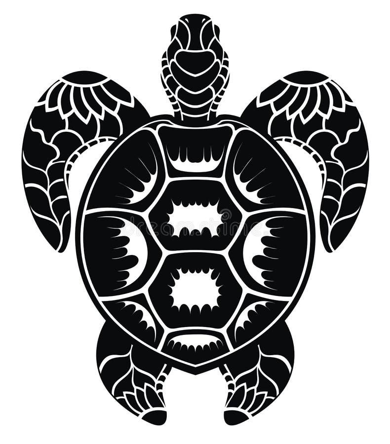 Projeto gráfico do vetor da tartaruga de mar ilustração royalty free