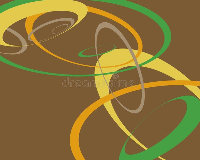 Projeto gráfico dos círculos retros ilustração do vetor