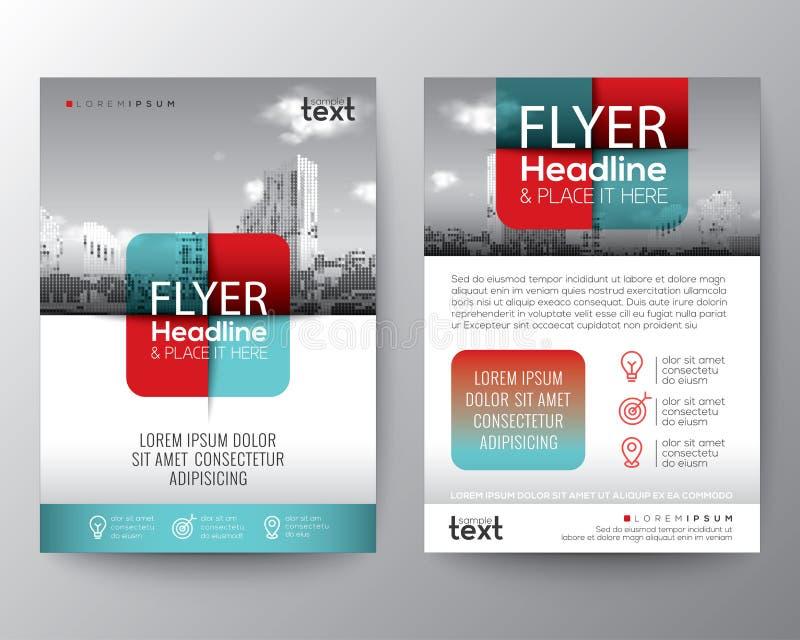 Projeto gráfico quadrado transversal do cartaz do inseto da tampa do folheto do elemento ilustração stock
