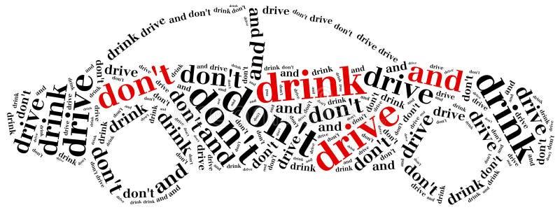 Projeto gráfico relativo à condução após o álcool ilustração do vetor