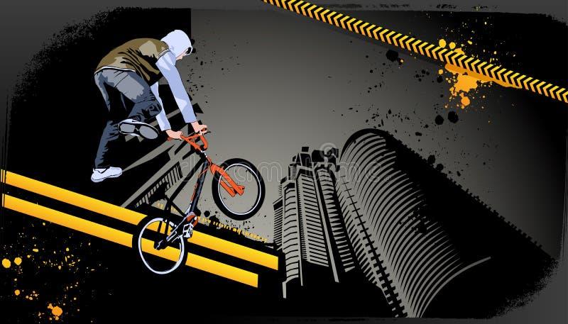 Projeto gráfico urbano do grunge moderno ilustração do vetor