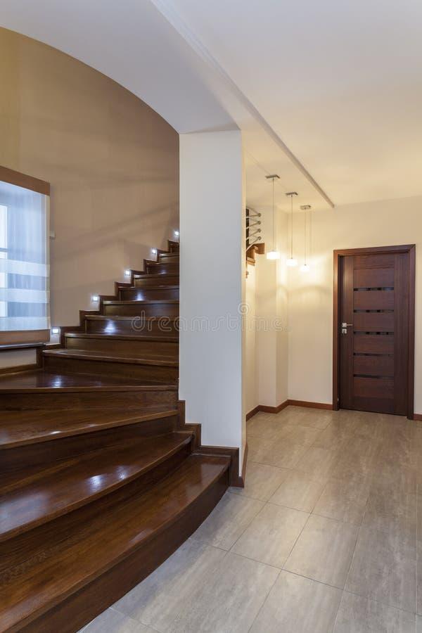 Projeto grande - escadas de madeira imagem de stock royalty free