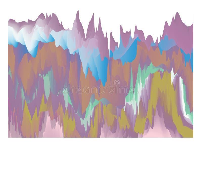Projeto holográfico abstrato da ilustração do fundo ilustração royalty free