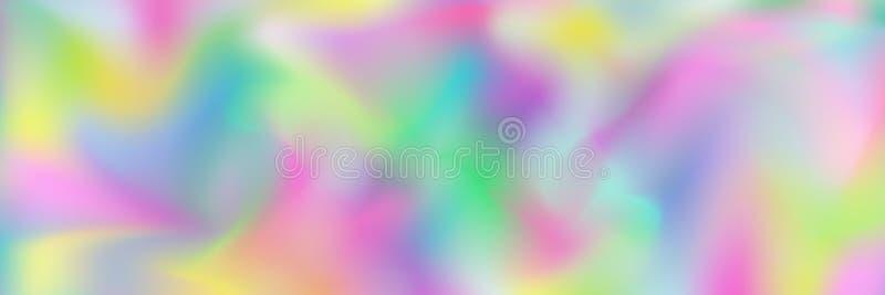 projeto holográfico pastel abstrato horizontal da textura para o teste padrão e o fundo ilustração do vetor