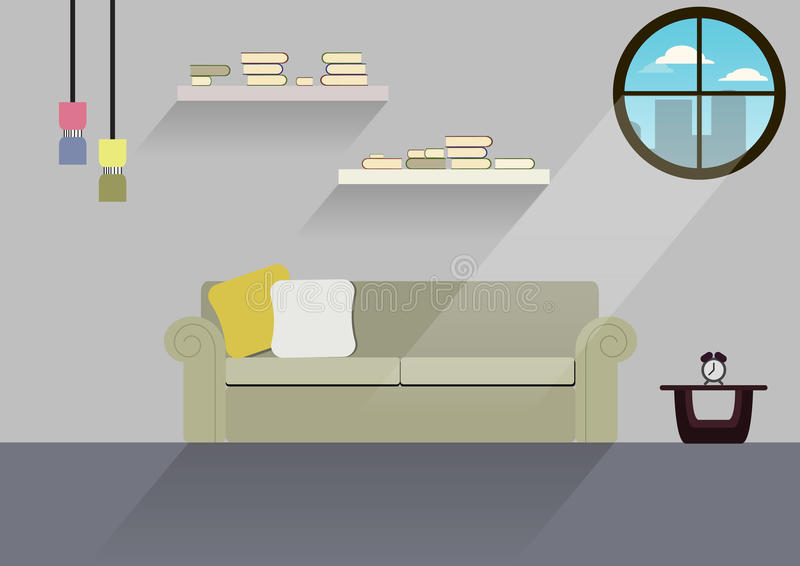 Projeto home, casa interior, estilo liso, interno, casa fotografia de stock royalty free