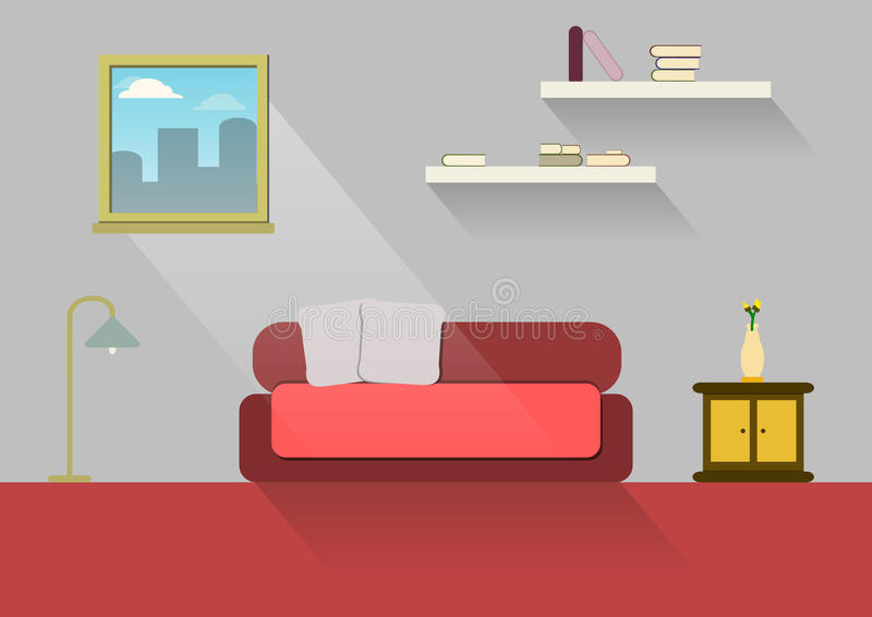 Projeto home, casa interior, estilo liso, interno, casa foto de stock