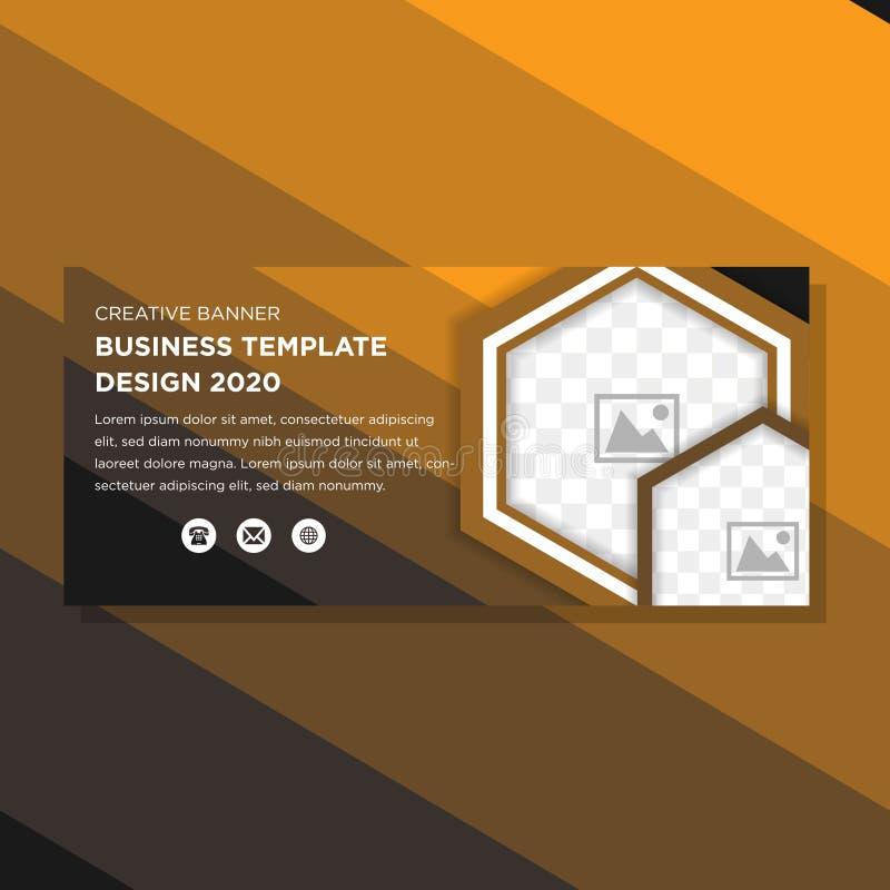 Projeto horizontal da bandeira do ouro dos inclinações ilustração stock