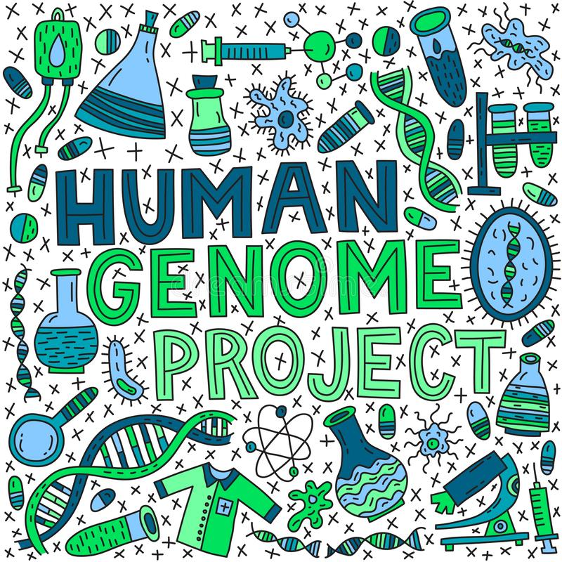 Projeto humano do genom foto de stock
