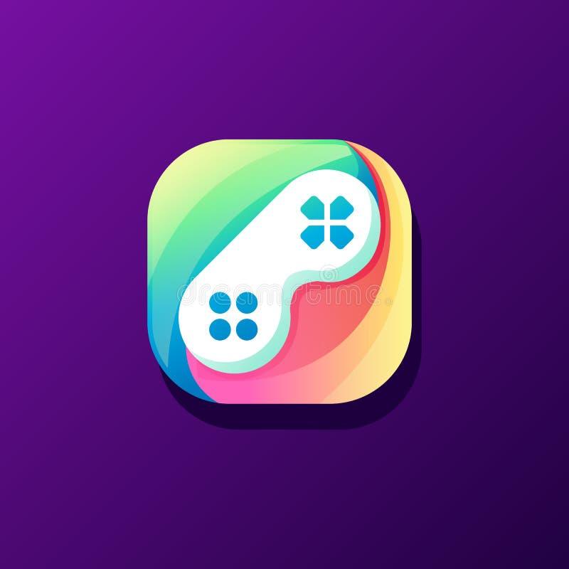 Projeto impressionante do ícone do jogo pronto para uso ilustração do vetor