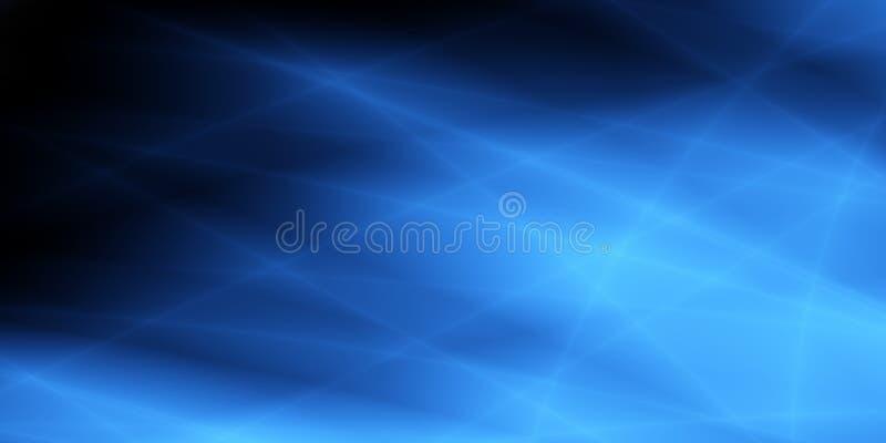 Projeto incomum do tela panorâmico abstrato dos azul-céu ilustração royalty free