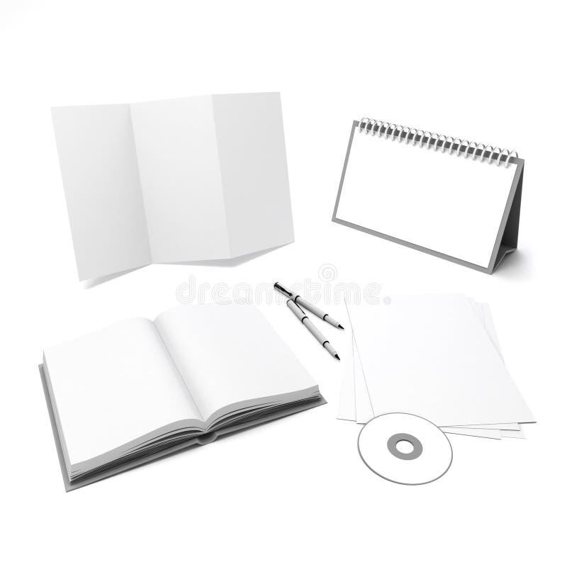 projeto incorporado vazio dos elementos da identificação 3d ilustração stock