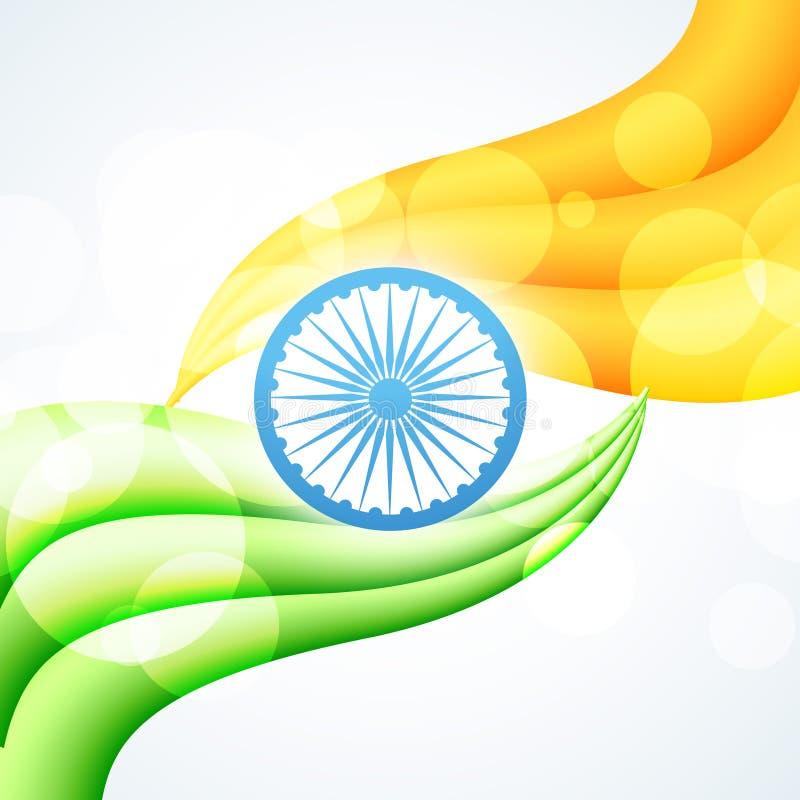 Projeto indiano à moda da bandeira ilustração stock