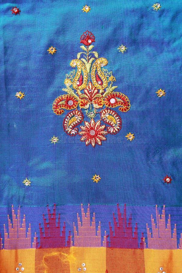 Projeto indiano do Saree. fotografia de stock