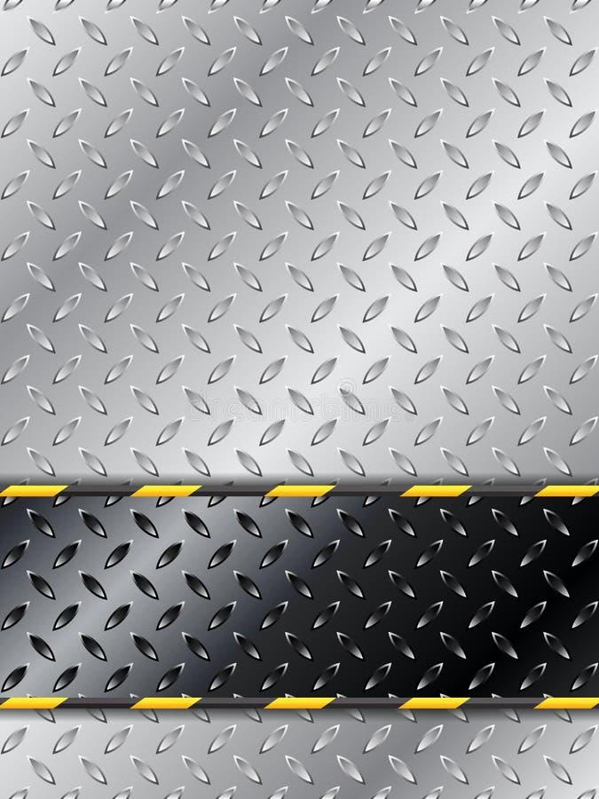 Projeto industrial customizável do fundo com placa metálica ilustração do vetor