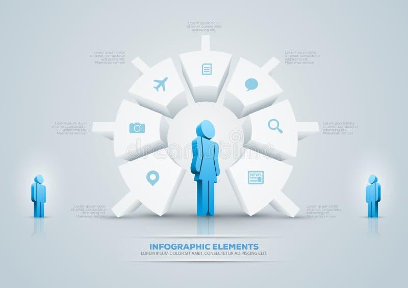 Projeto infographic da carta de torta ilustração stock