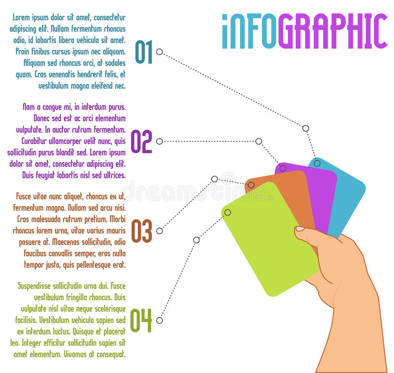 Projeto infographic do vetor com quatro etapas ilustração do vetor