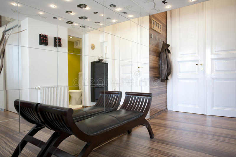 Projeto interior da entrada Home fotografia de stock