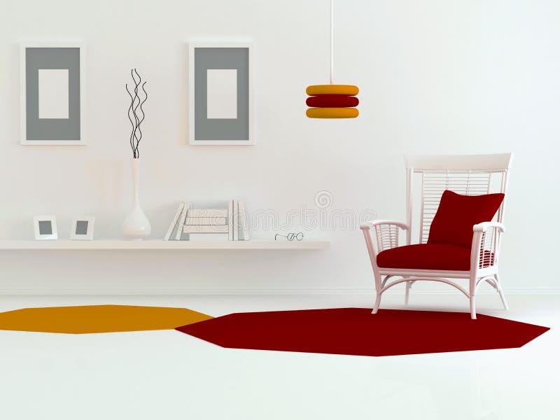 Projeto interior da sala de visitas moderna ilustração do vetor