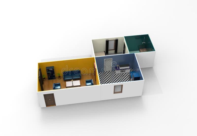 Projeto interior da sala ilustração stock