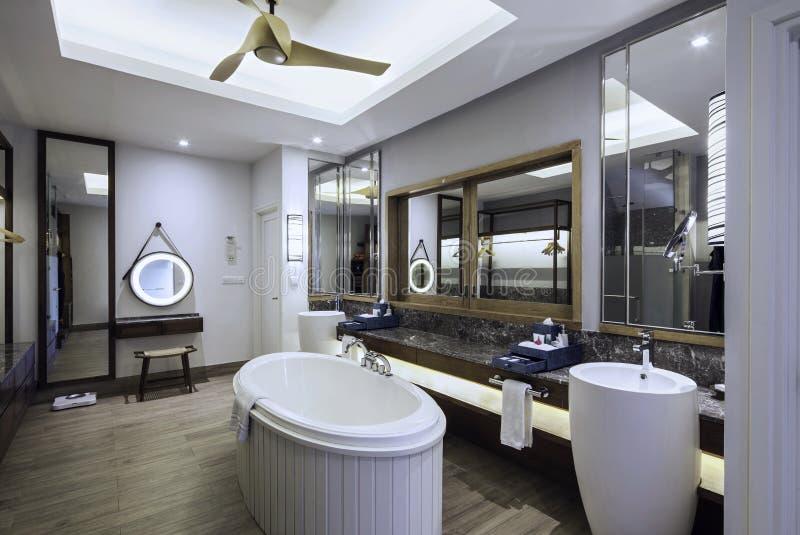 Projeto interior do banheiro foto de stock