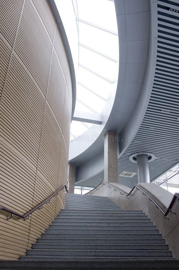 Projeto interior do corredor da construção imagem de stock royalty free