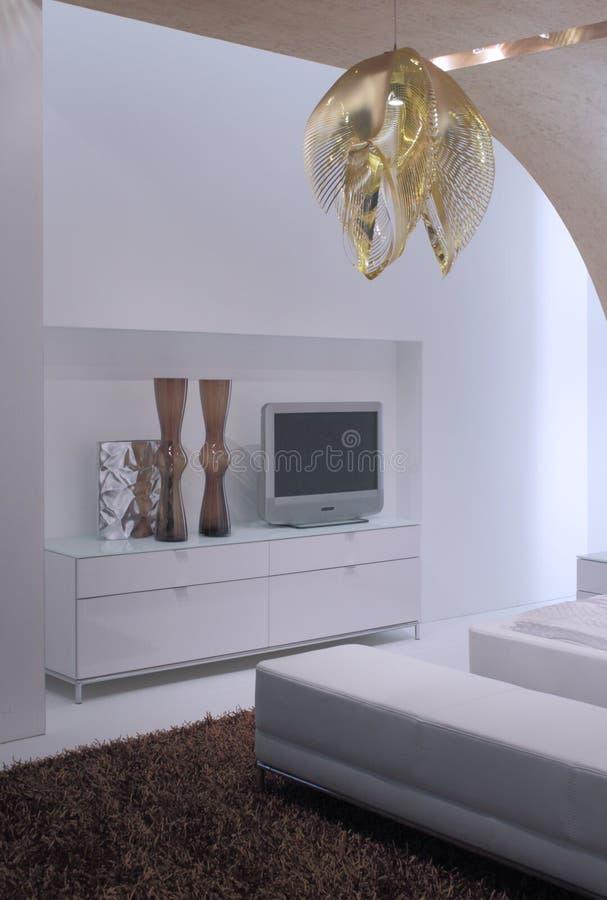 Projeto interior do quarto moderno. foto de stock royalty free
