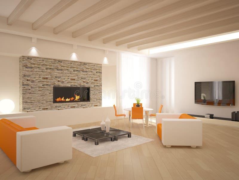 Projeto interior moderno ilustração do vetor