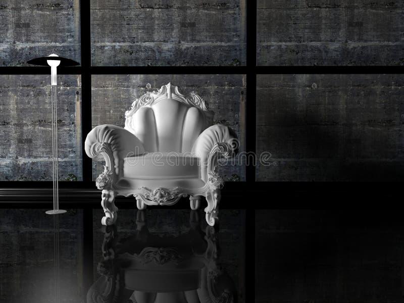 Projeto interior moderno ilustração royalty free
