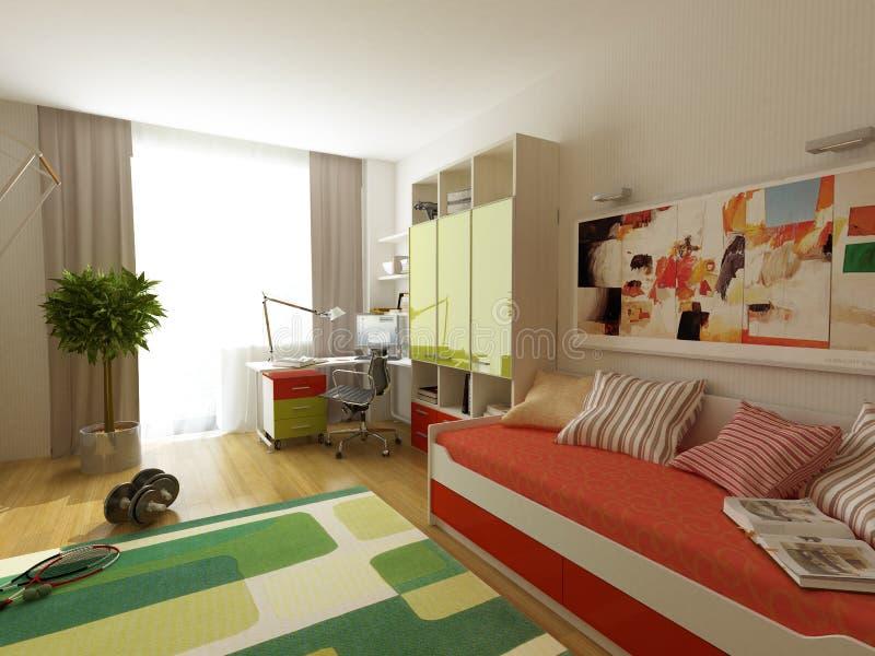 Projeto interior moderno ilustração stock