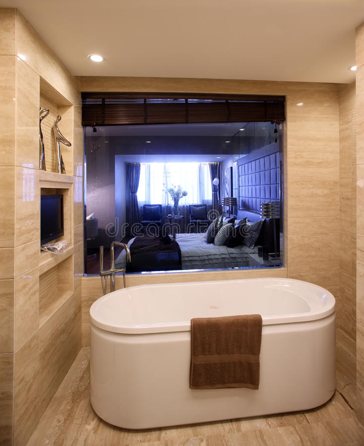 Projeto interior moderno - banheiro foto de stock