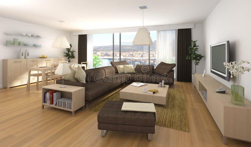Projeto interior moderno do apartamento ilustração stock