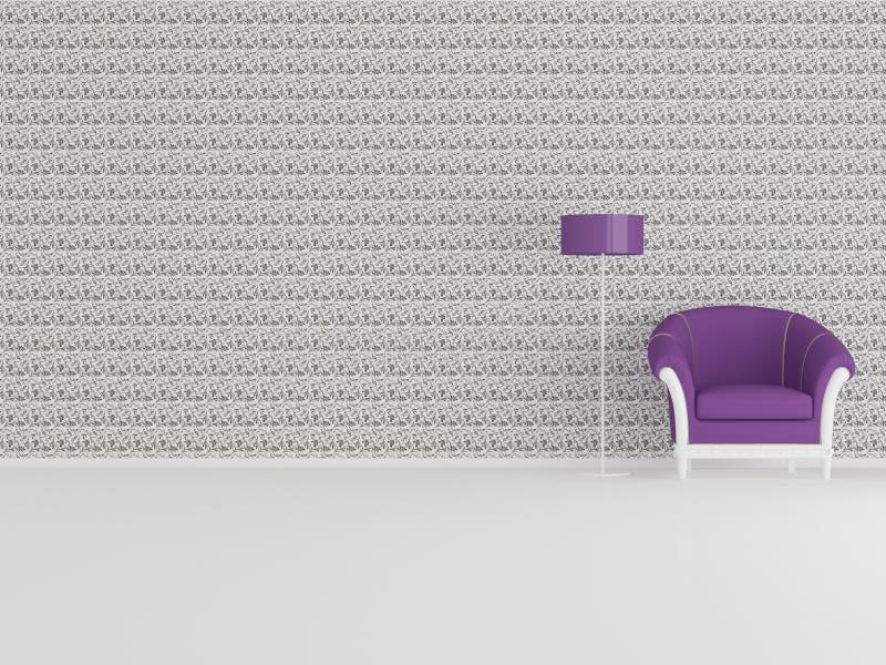 Projeto interior moderno, minimalism ilustração stock