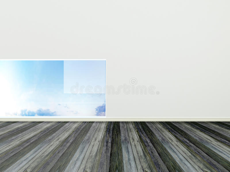 Projeto interior moderno, quarto vazio ilustração royalty free