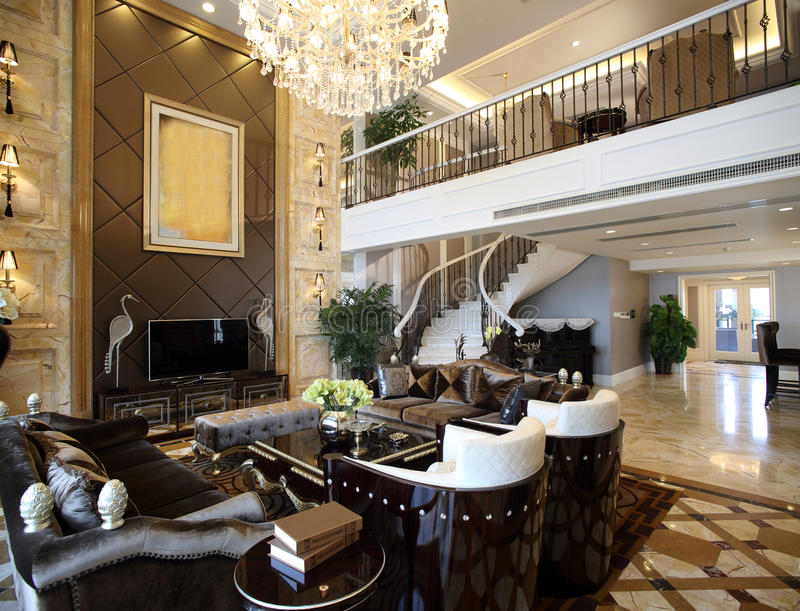 Projeto interior moderno - sala de visitas imagens de stock royalty free