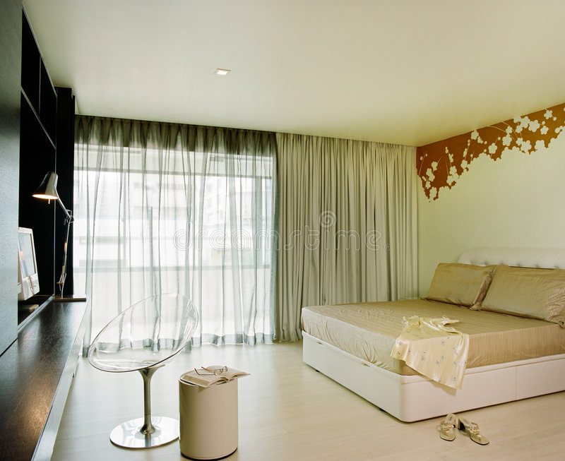 Projeto interior - quarto fotos de stock royalty free
