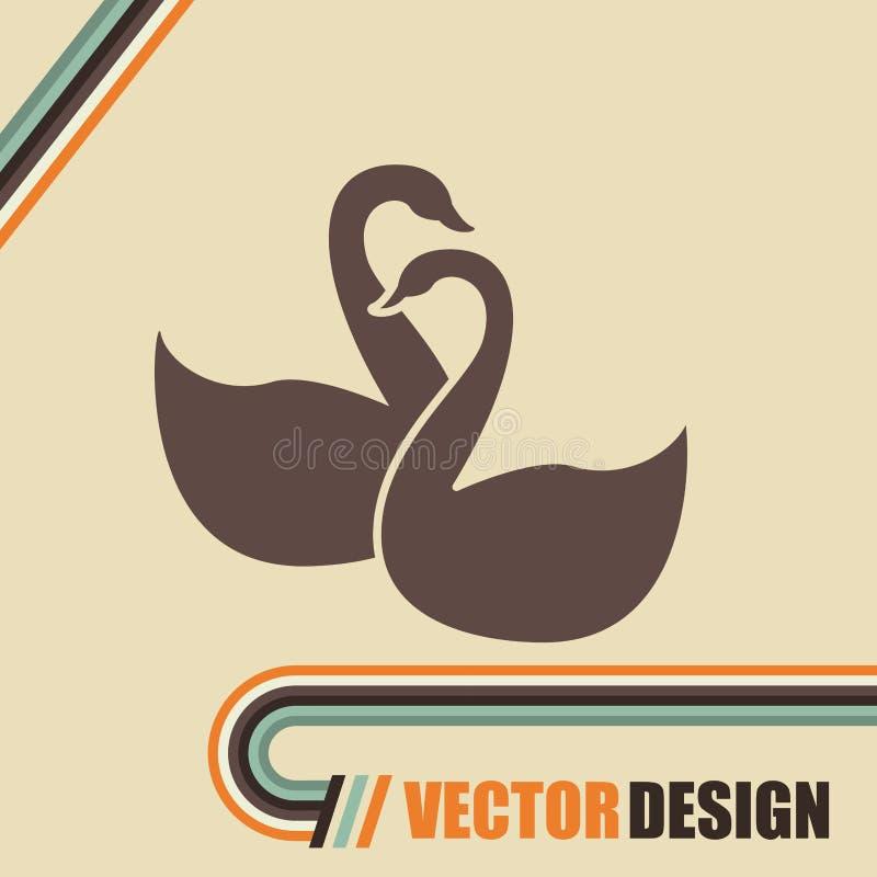 projeto isolado cisne ilustração do vetor