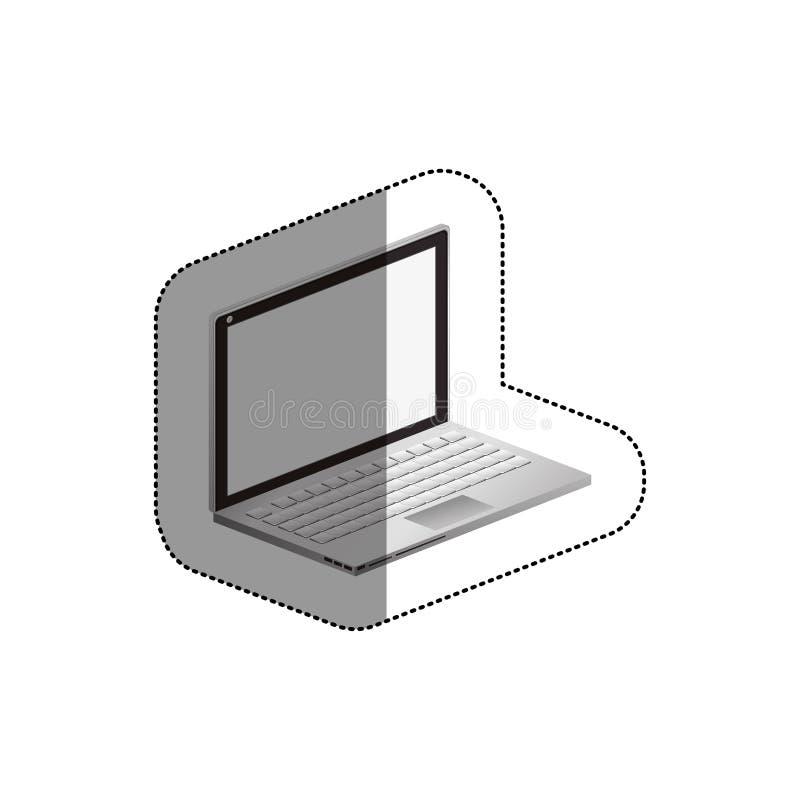 Projeto isolado do dispositivo do portátil ilustração royalty free