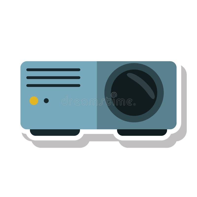 Projeto isolado do feixe video do cinema ilustração stock
