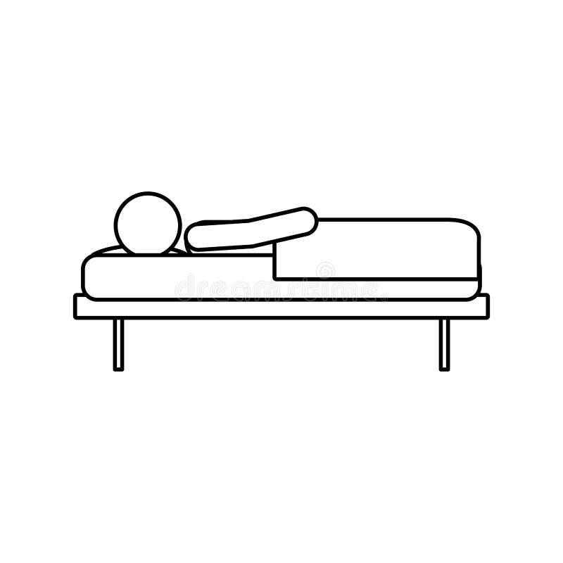 Projeto isolado do homem do sono ilustração royalty free