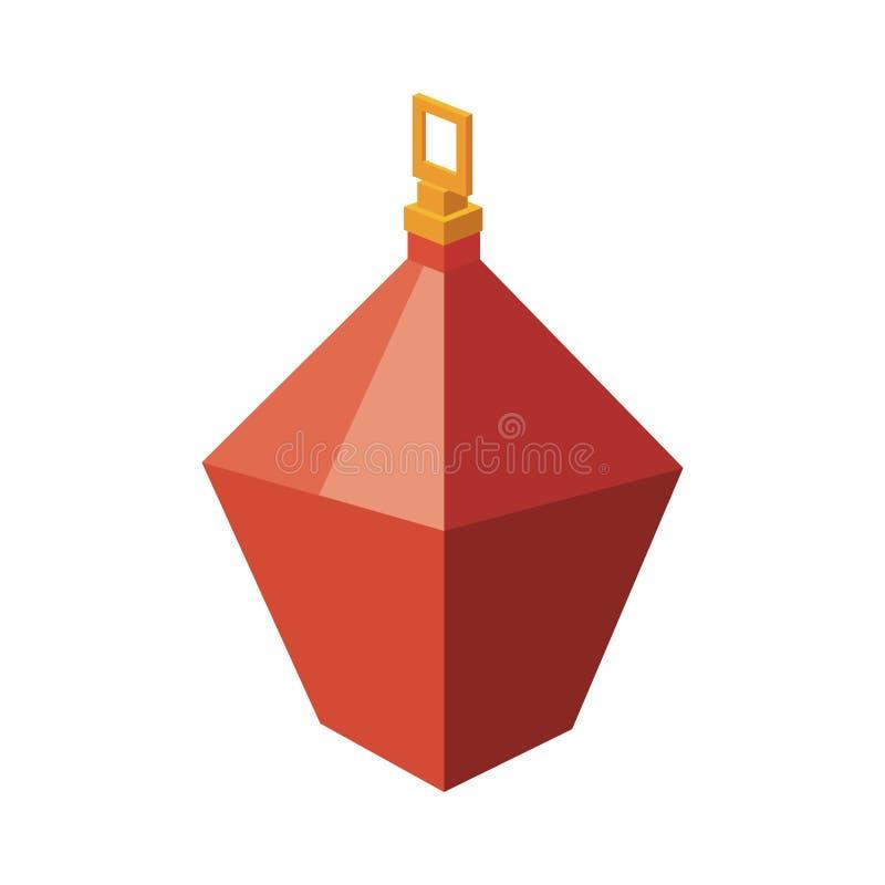 Projeto isométrico da esfera do Natal ilustração do vetor