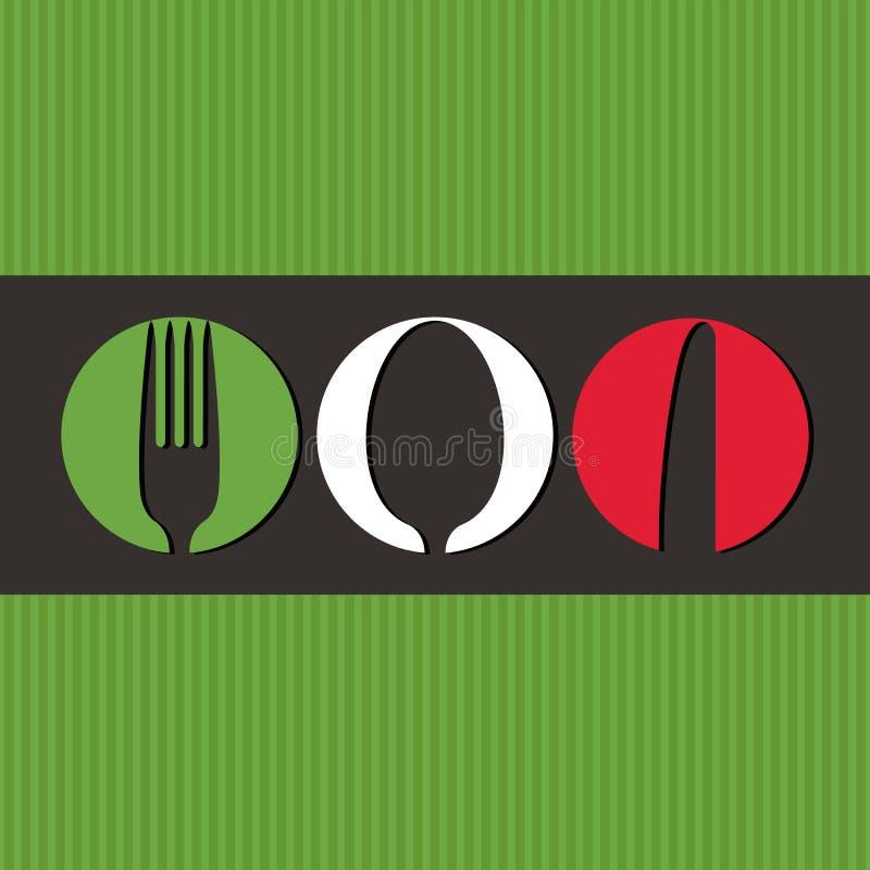 Projeto italiano do menu ilustração do vetor