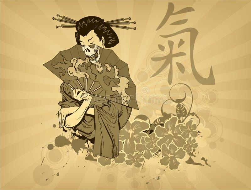 Projeto japonês do t-shirt ilustração royalty free