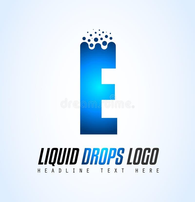 Projeto líquido criativo do logotipo da letra de gotas para a identidade de marca, COM ilustração do vetor
