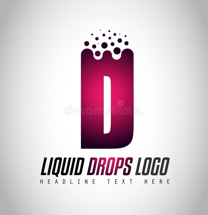 Projeto líquido criativo do logotipo da letra de gotas para a identidade de marca, COM ilustração royalty free