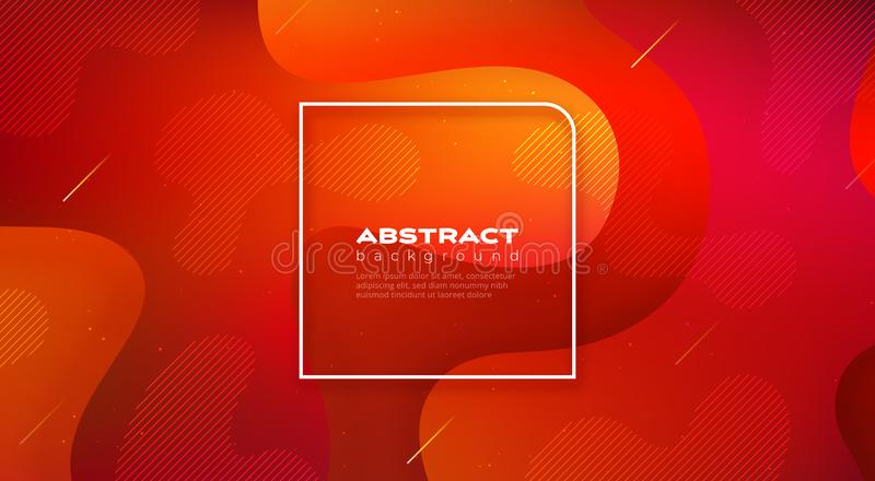 Projeto líquido do fundo da cor O inclinação fluido dá forma à composição Cartazes futuristas do projeto Vetor Eps10 ilustração do vetor